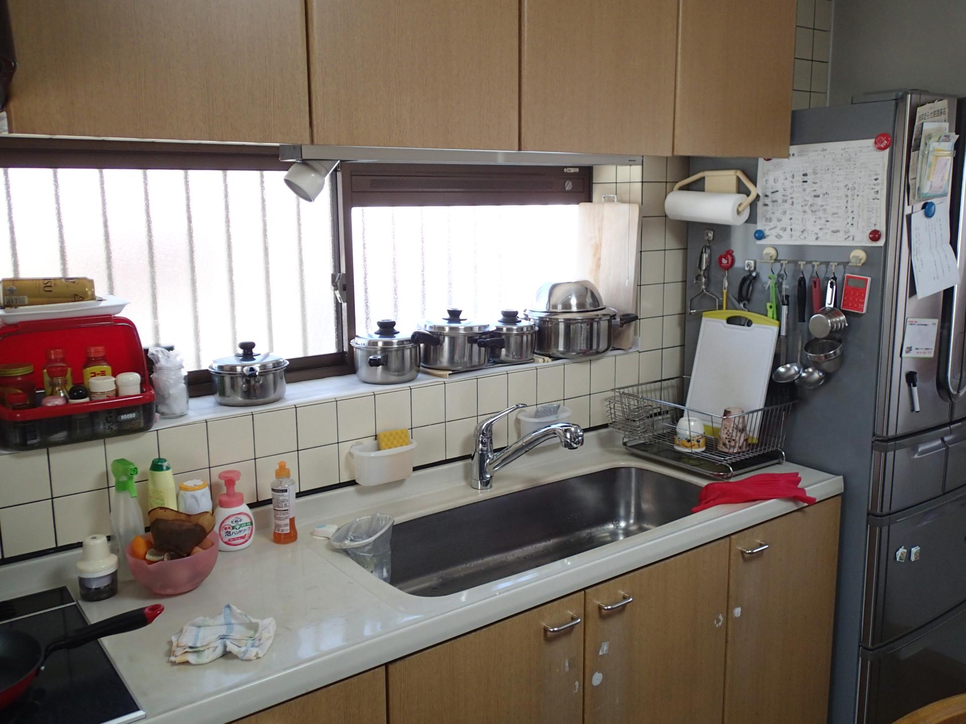 奥行き60センチのキッチンでした