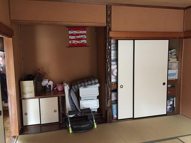 1F和室、床の間→キッチン、収納