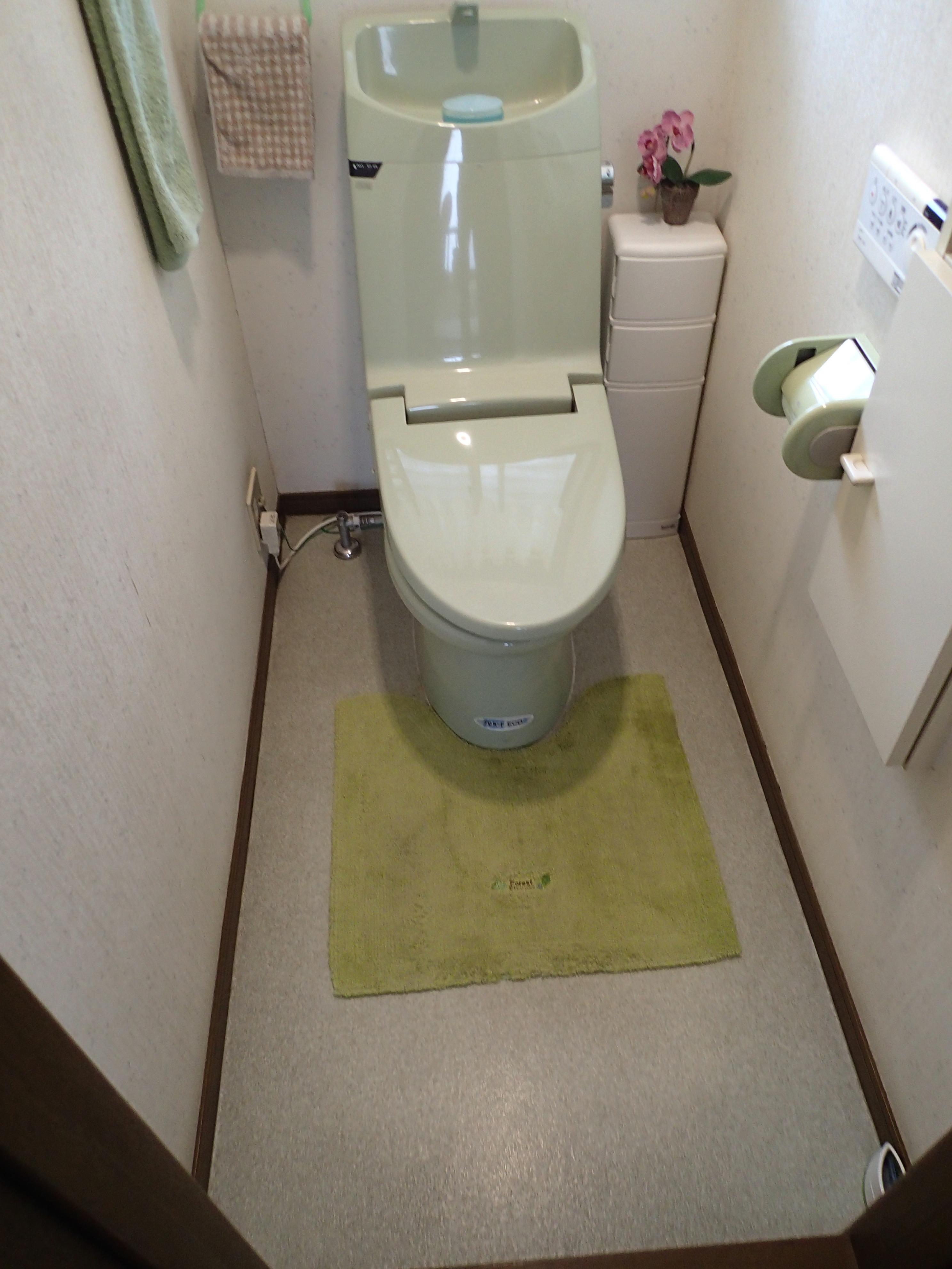 10年ほど前に一度取り替えている便器。まだきれいなので2階のトイレへ移設しました。