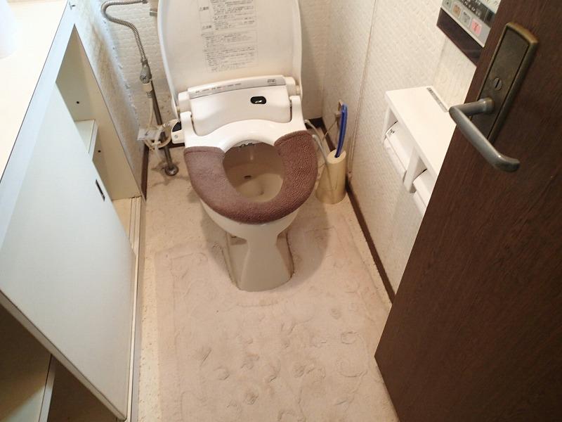 内開きの戸は出入りしづらく、寝室からトイレまでも少し距離がありました。