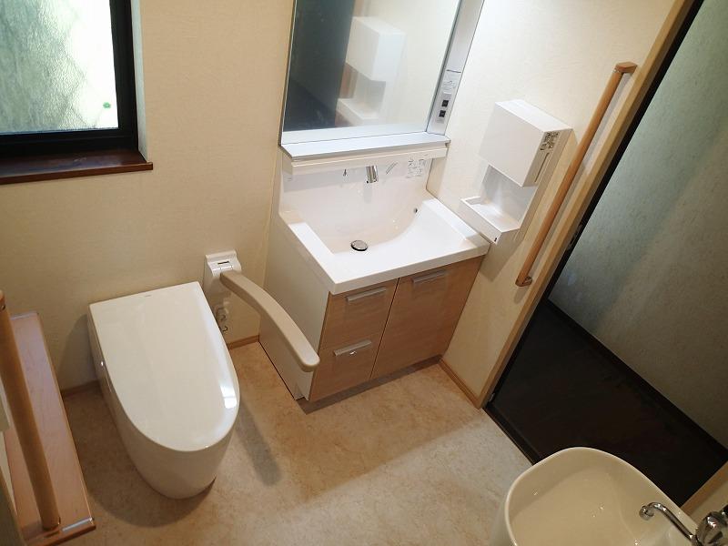 広く使いやすくなったトイレ空間