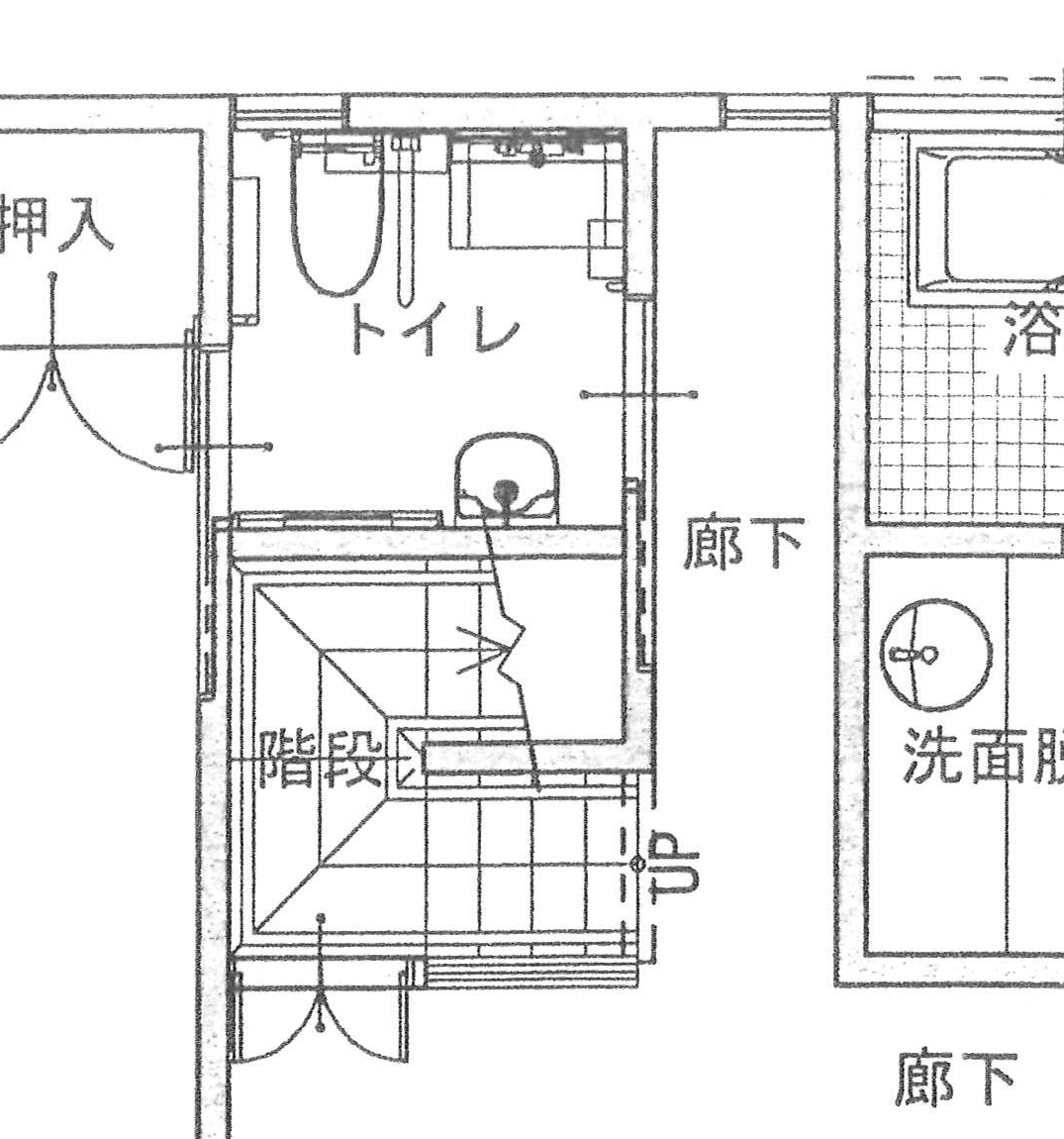 出入り口を2箇所にして寝室から直接トイレへアクセスできるようになりました