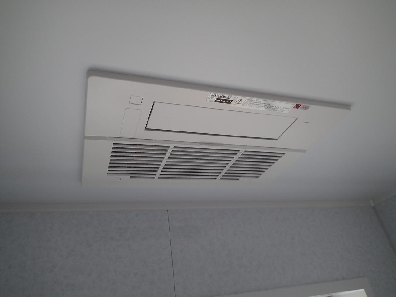 ガス温水式浴室暖房乾燥機で冬場も快適、衣類乾燥も十分実用的に使用できます