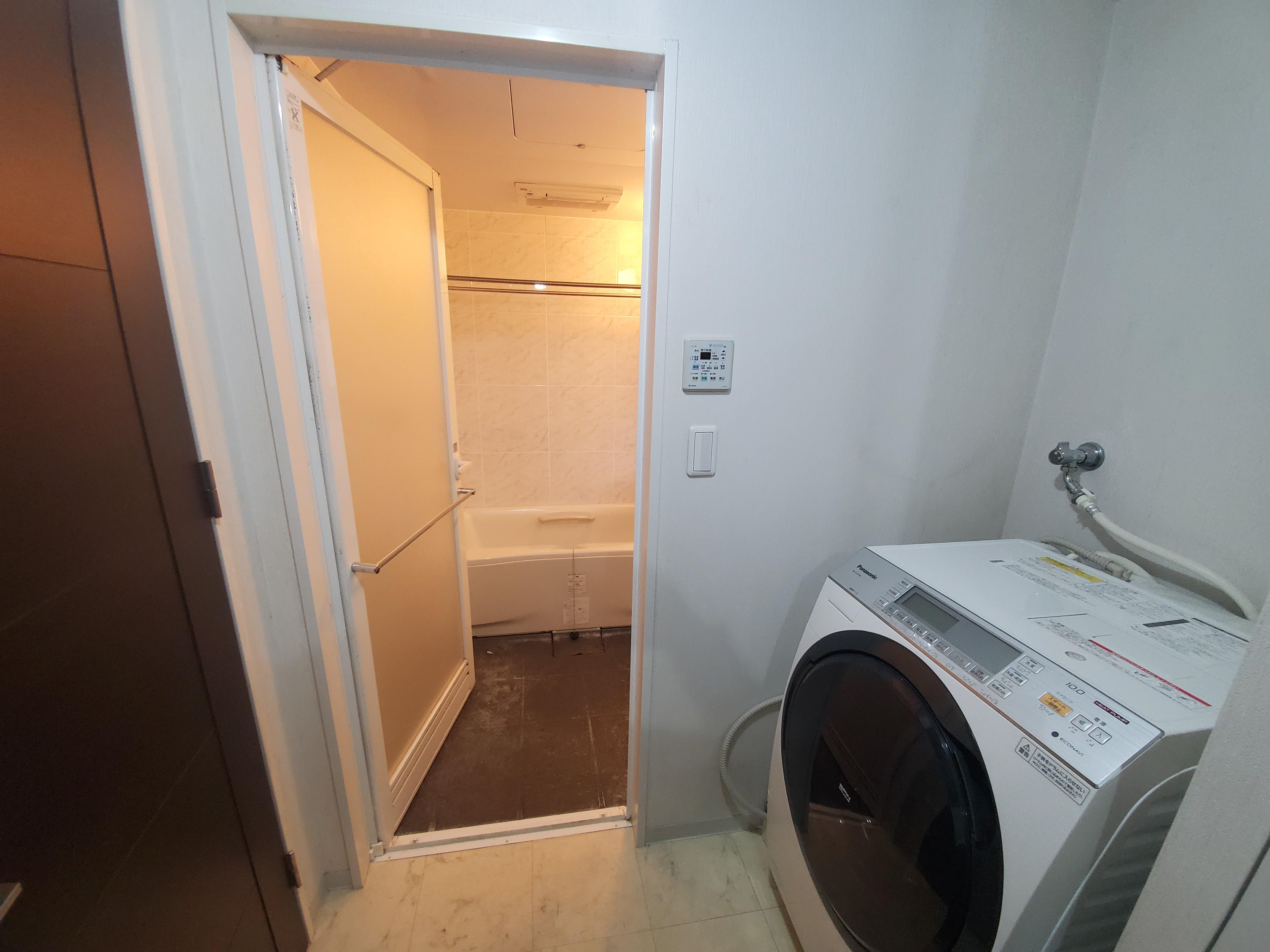 既存浴室入口開きドア